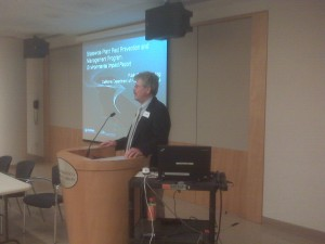 Photo of Dr. Robert Leavitt at scoping session in San Francisco.